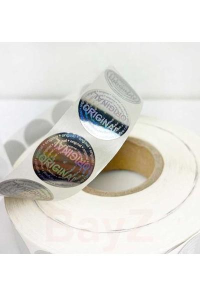 Bayz 2500 Adet Hologram Orjınal Etiket Original 2x2 cm