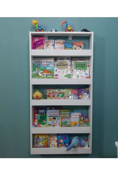 Mihenk Inci Montessori Kitaplık Çocuk Odası Kitaplığı 5 Raflı