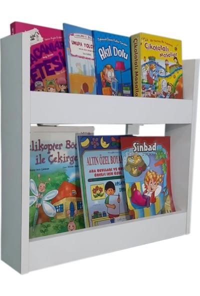 Mihenk Inci Montessori Kitaplık Çocuk Odası Kitaplığı 2 Raflı Mdf