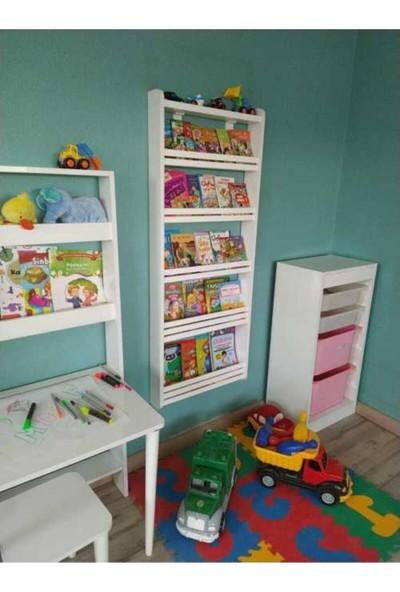 Mihenk Rüya Montessori Kitaplık Çocuk Odası Kitaplığı 5 Raflı