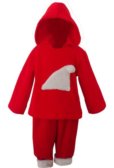 Shecco Babba Polar Kapişonlı Çocuk Noel Takım