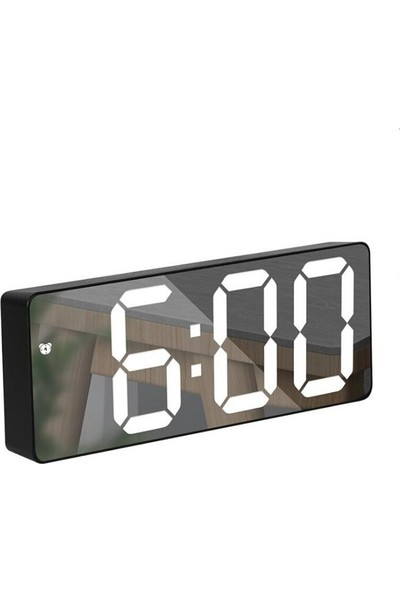 Valkyrie Siyah Ayna Çalar Saat LED Dijital Saat