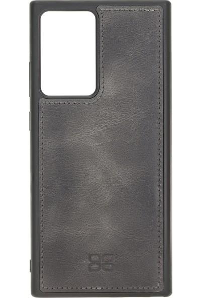 Bouletta Mw Deri Telefon Kılıfı Samsung Note 20 Ultra Rfıd TN18EF Gri