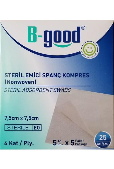B-Good Steril Emici Spanç Kompres 7.5cmx7.5cm 25LI