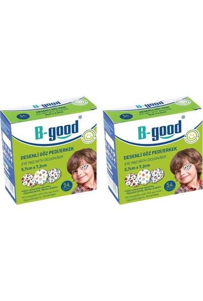 B-Good Desenli Göz Kapama Bandı Erkek 54 Adet 2 Paket