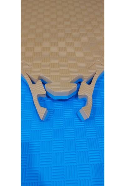 Sportif Kıvrak 100X100 cm 26 mm Tatami Minderi Turuncu-Mavi
