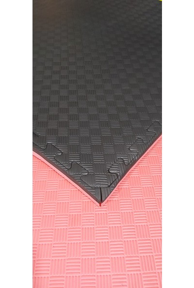 Sportif Kıvrak 100X100 cm 26 mm Tatami Minderi Kırmızı-Siyah