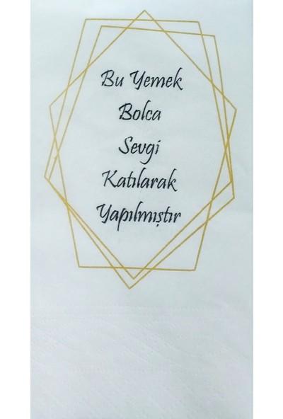 Napkin Store Peçete ( Bolca Sevgi ) Mottolu 24'lü Paket