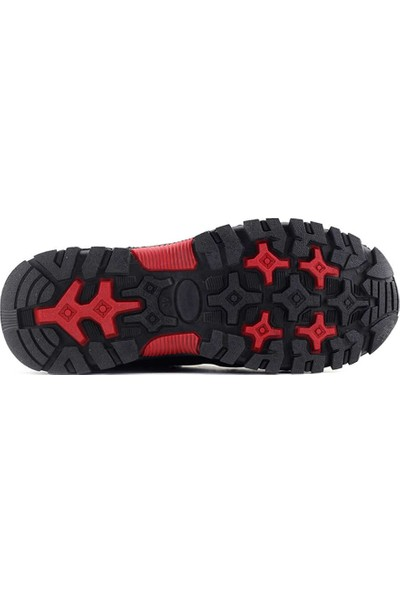 Kayra Chic Foots 101 Erkek Outdoor Ayakkabı-Siyah Kırmızı