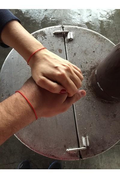 Arda Aksesuar Red String İp Çift Bileklik Kırmızı Renk