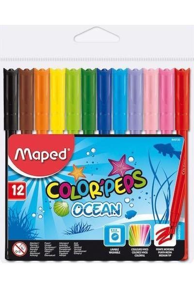 Maped Color Pep's Ocean Keçeli Kalem + Red Apple Boyama Çerçeve