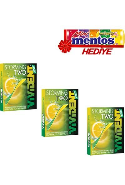 Vivident Stormıng Two Limonata ve Kavun 3'lü 99 gr