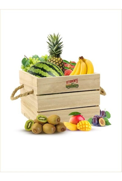 Vitaminye Meyve Salatası Sepeti
