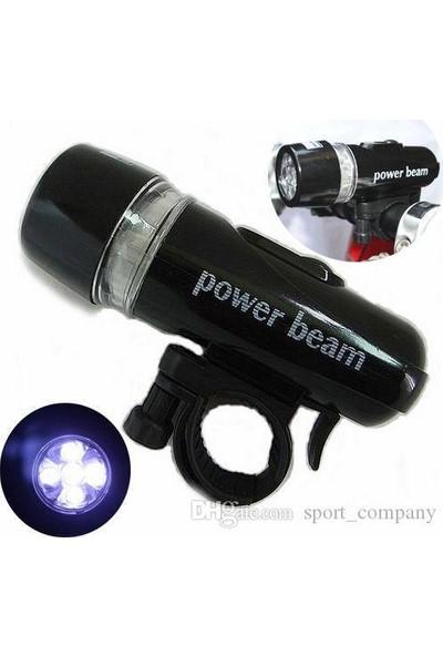 Netodak LED Bisiklet Lambası Feneri Ön Far Işık Aydınlatma ( Pil Dahil)