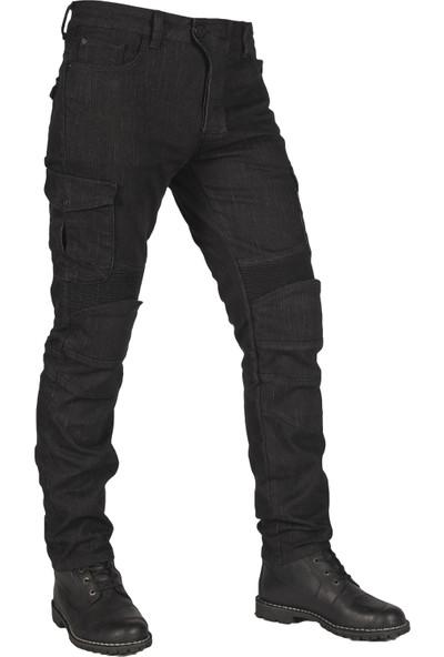 The Biker Jeans Black Adventure Flexi V3 Korumalı Motosiklet Kot Pantolonu