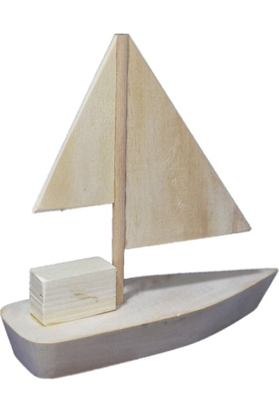 Babydcey Ahşap Boyanabilir Gemi Boyama Seti