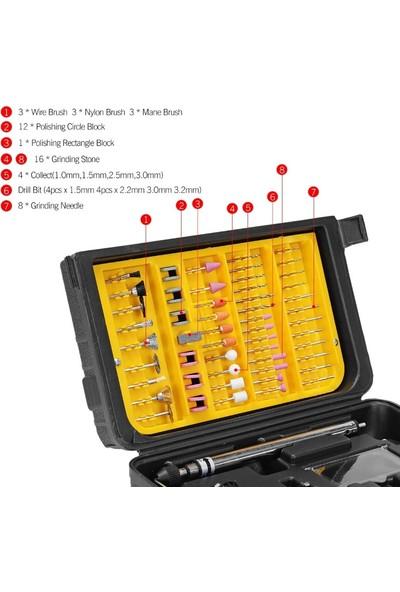 Staxx Power Germany 405 Parça Devir Ayarlı Gravür Oyma Makinesi Dremel Taşlama Zımpara Kesme Seti SFC405A 450W