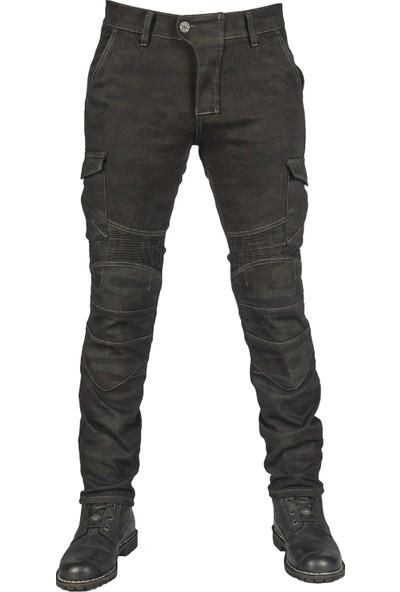 The Biker Jeans All Road Khaki Camo Flexi Korumalı Motosiklet Kot Pantolonu