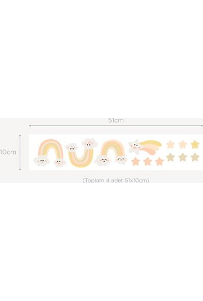 Jüppo Gökkuşağı ve Yıldızlar Mini Sticker Seti