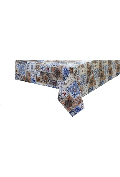 Derinteks Duck Anatolia Çini Desenli Desenli Dertsiz Masa Örtüsü 100 x 140 cm