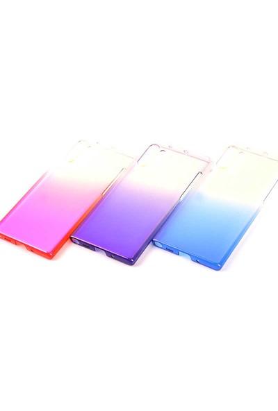 Fujimax Samsung Galaxy Note 10 Degrade Transparan Silikon Kılıf + 9H Tam Kapatan Hayalet Ekran Koruyucu