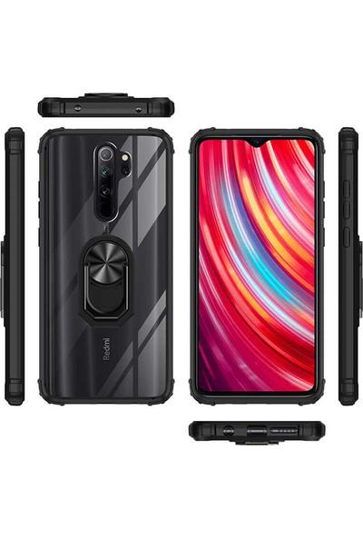 Fujimax Xiaomi Redmi Note 8 Pro Power Zone Series 4 Sert Silikon Kılıf + 9H Fiber Nano Tam Kaplayan Ekran Koruyucu