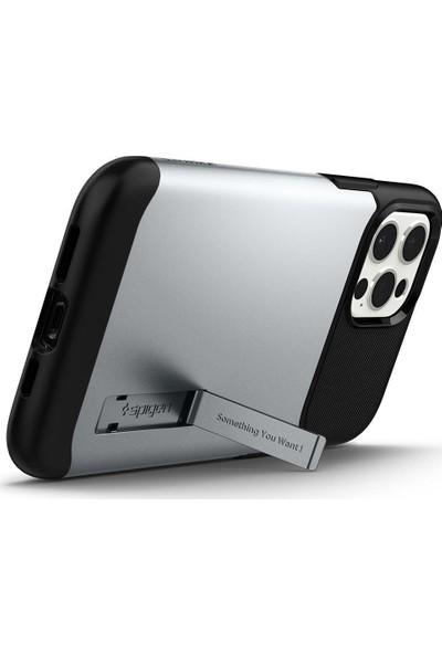 Spigen Apple iPhone 12 Pro Max Kılıf Slim Armor Satin Silver - ACS01482