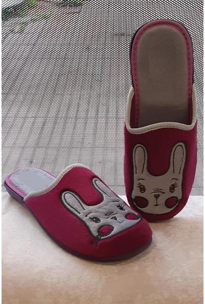 Modafrato GZ128.66 Kadın Ev Terliği Kışlık Terlik Kedi Tavşan