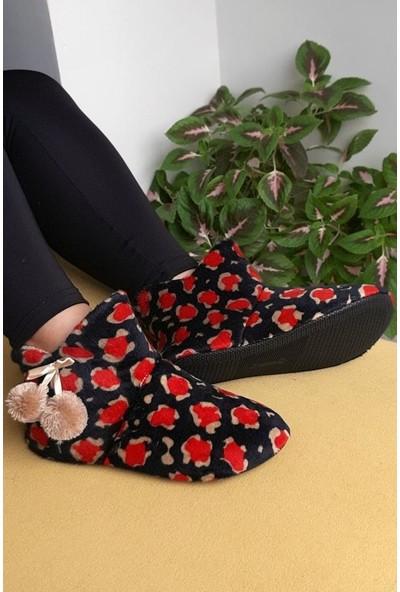Modafrato Uc-Alaca Kadın Panduf Ev Ayakkabısı Ev Botu