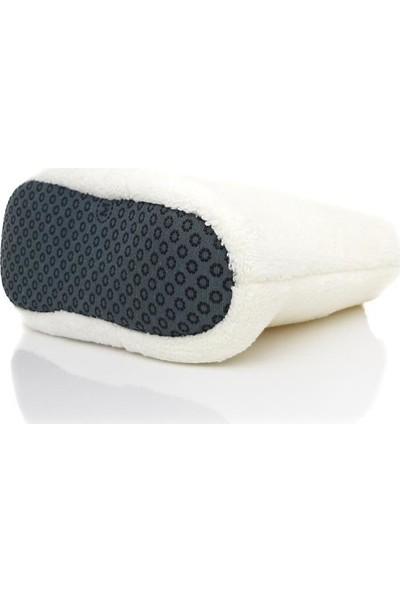 Modafrato Rp-Ponpon Tüylü Kadın Panduf Ev Ayakkabısı Ses Yapmayan