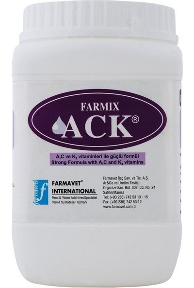 Farmavet Farmix Ack Toz