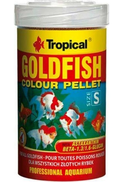 Tropical Goldfish Colour Pellet Size Small 100ml 45gr