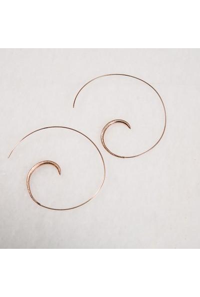 Ekina Silver Spiral Rose Küpe