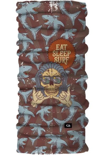 Pirate & Parrot Peace Unisex Çok Fonksiyonlu Yüz Maskesi Bandana Bileklik Toz- Güneş ve Rüzgar Koruyucu Tüp Boyunluk