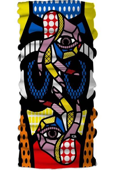 Pirate & Parrot Namaste Unisex Çok Fonksiyonlu Yüz Maskesi Bandana Bileklik Toz- Güneş ve Rüzgar Koruyucu Tüp Boyunluk