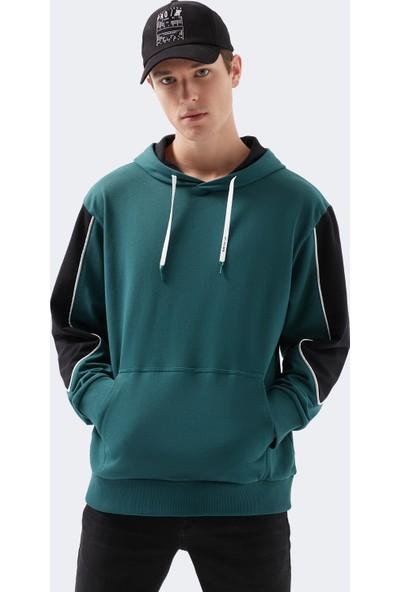 Mavi Erkek Team Mavi Kapüşonlu Yeşil Sweatshirt 066633-33505