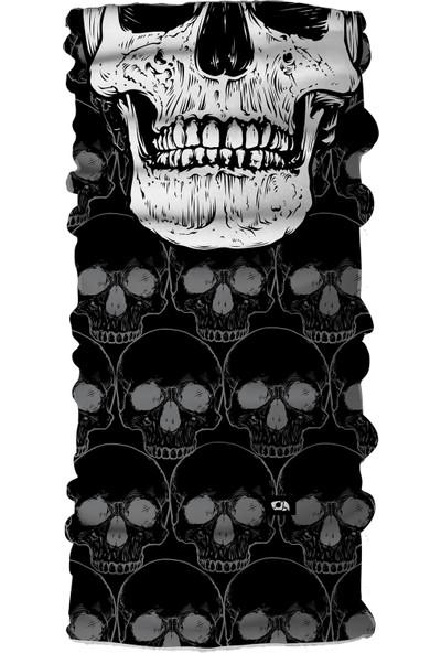 Pirate & Parrot Skull Unisex Çok Fonksiyonlu Yüz Maskesi Bandana Bileklik Toz- Güneş ve Rüzgar Koruyucu Tüp Boyunluk