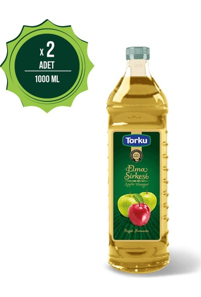 Torku Elma Sirkesi 1000 Ml Pet Şişe X2