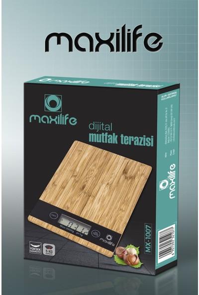 Maxilife MX-1007 Dijital Bambu Hassas Mutfak Tartısı Terazi