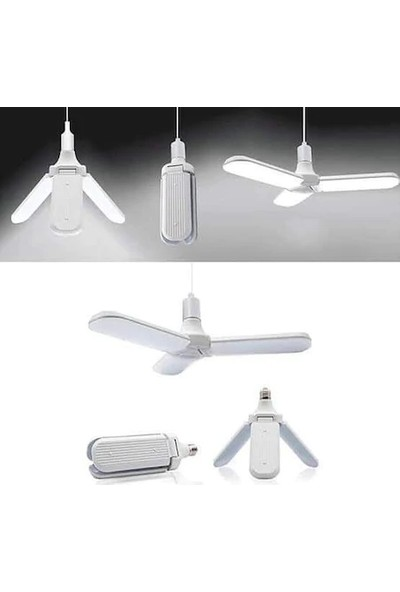 Forest 45 Watt Pervane Katlanabilir LED Ampul- E27 -3600 Lümen- Beyaz Işık