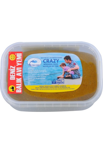 Mr Fish Cake Balik Avi Yemleri Crazy Tuzlu Su Balık Avı Hazır Kıvam Hamur Yem