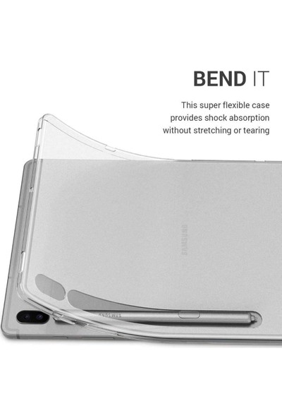 Redpoloshop Samsung Galaxy Tab S7 11,0'' T870 T875 T876 Kılıf Şeffaf Silikon