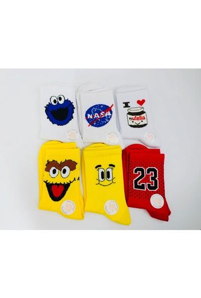 Shock Shocks 6'lı Fun Feet Neşeli Soket Çorap