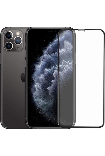 Apple iPhone 11 Pro (Iphone X)(Iphone Xs) Mat Seramik Ekran Koruyucu Tam Kaplayan Jelatin Siyah