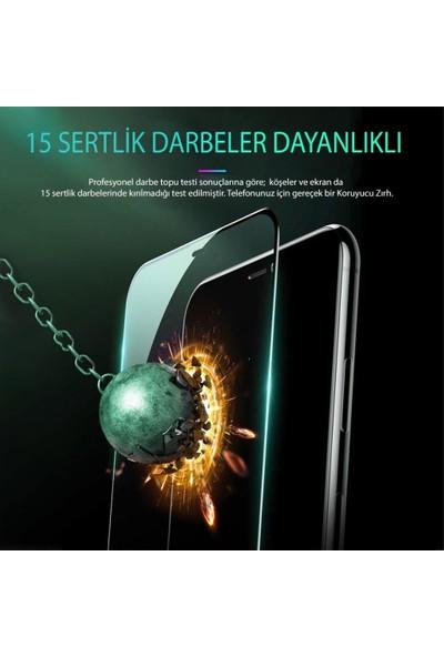 Apple iPhone Se 2020 (Iphone 8-Iphone 7 Uyumlu) Optik Şeffaf Seramik Ekran Koruyucu Jelatin Siyah
