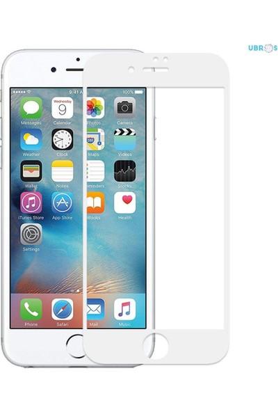 Apple iPhone 6s (Iphone 6 Uyumlu) Optik Şeffaf Seramik Ekran Koruyucu Jelatin Beyaz