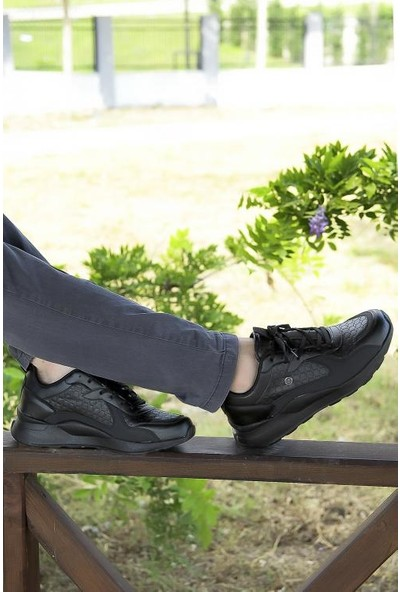 Crash Erkek Sneaker 9212 Siyah Siyah 40