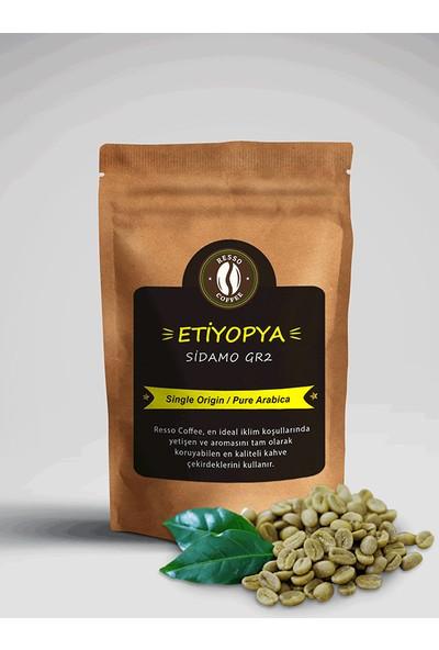 Resso Coffee Etiyopya / Sidamo Gr2 %100 Arabica Premium Yeşil / Çiğ Kahve Çekirdeği 250 gr