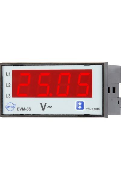 Entes Ent-Evm-3-48 Elektronik Voltmetre 48X96 M0019
