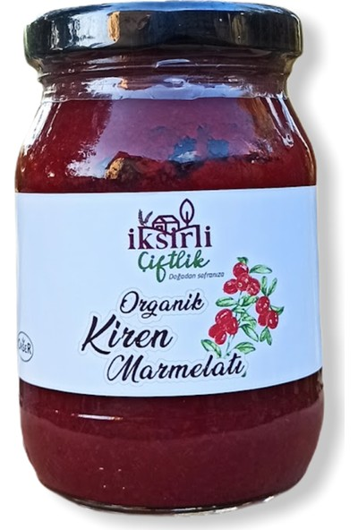 İksirli Çiftlik Organik Kiren (Kızılcık) Marmelatı (Organik Elma Suyu Konsantreli) 370 gr